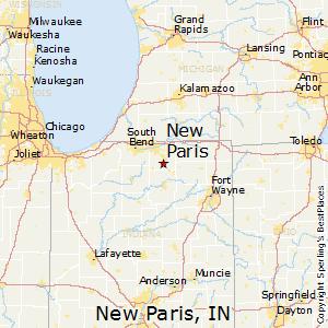 New Paris Indiana Map