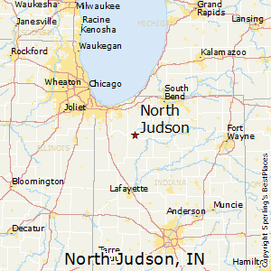 North_Judson,Indiana Map