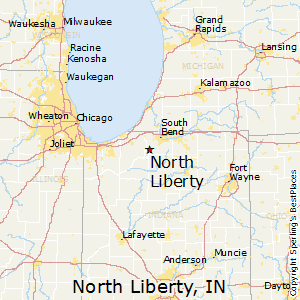 North_Liberty,Indiana Map