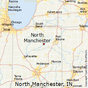 North_Manchester,Indiana Map