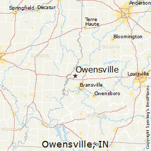 Owensville,Indiana Map