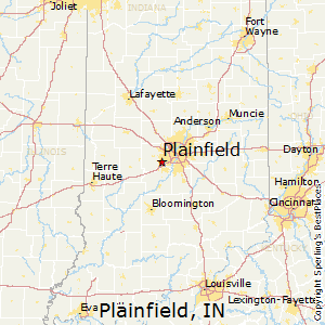Plainfield,Indiana Map