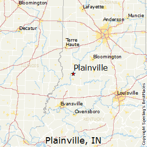 Plainville,Indiana Map