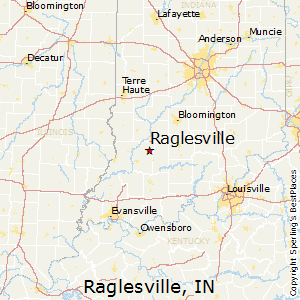 Raglesville,Indiana Map