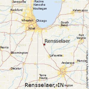 Rensselaer,Indiana Map