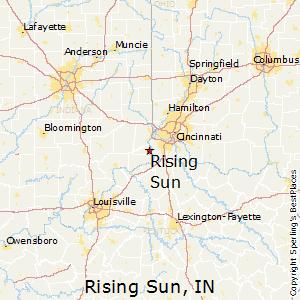 Hebron Indiana Map.Comparison Hebron Kentucky Rising Sun Indiana