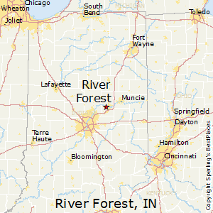 River_Forest,Indiana Map