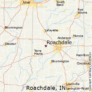 Roachdale,Indiana Map