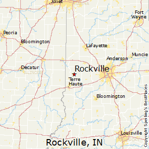 Rockville,Indiana Map