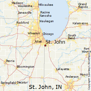 st_johnindiana map
