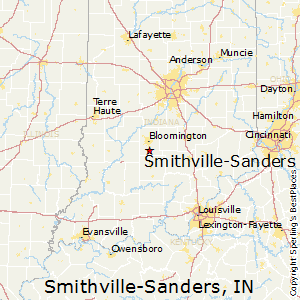 Smithville-Sanders,Indiana Map
