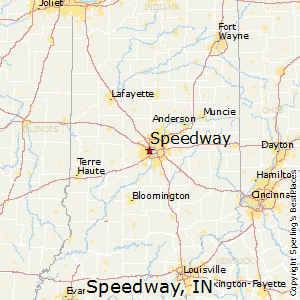 Speedway,Indiana Map