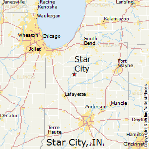 Star_City,Indiana Map