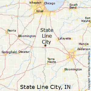 State_Line_City,Indiana Map