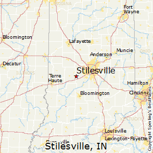 Stilesville,Indiana Map