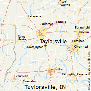 Taylorsville,Indiana Map