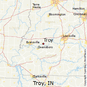Troy,Indiana Map