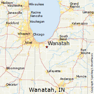 Wanatah,Indiana Map