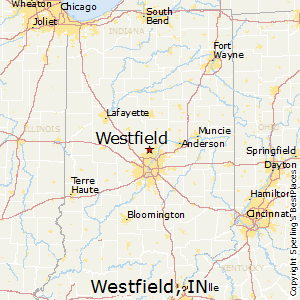 Westfield,Indiana Map