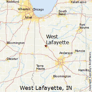 West_Lafayette,Indiana Map