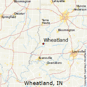 Wheatland,Indiana Map