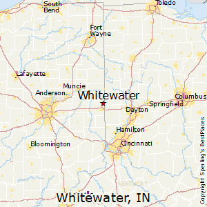 Whitewater,Indiana Map