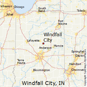 Windfall_City,Indiana Map