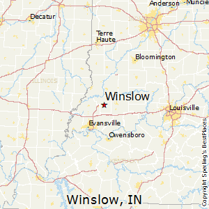 Winslow,Indiana Map