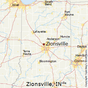 Zionsville,Indiana Map