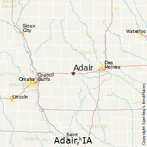 Adair,Iowa Map