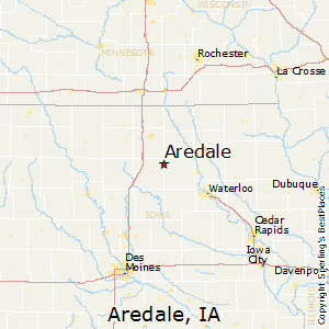 Aredale,Iowa Map
