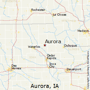 Aurora,Iowa Map