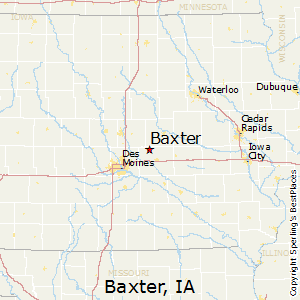 Baxter,Iowa Map