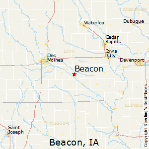 Beacon,Iowa Map