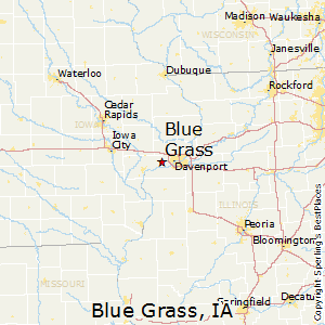 Blue_Grass,Iowa Map