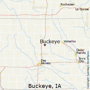 Buckeye,Iowa Map