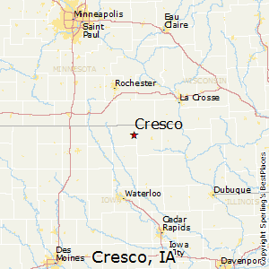 Sumner Iowa Map.Comparison Sumner Iowa Cresco Iowa