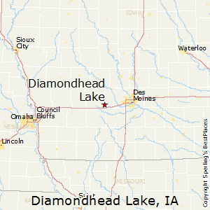Diamondhead_Lake,Iowa Map