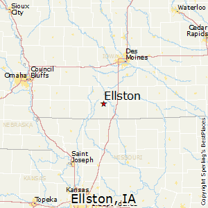 Ellston,Iowa Map