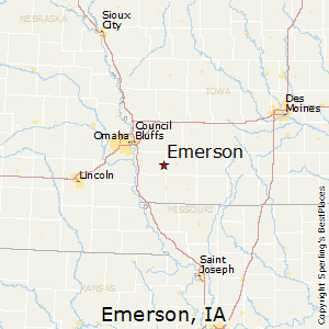 Best Places to Live in Emerson, Iowa on perry iowa on map, united states map, independence iowa on a map,