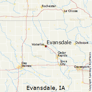 Evansdale,Iowa Map