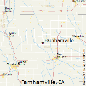 Farnhamville,Iowa Map