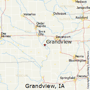 Grandview,Iowa Map