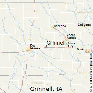 Grinnell,Iowa Map