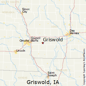 Griswold,Iowa Map