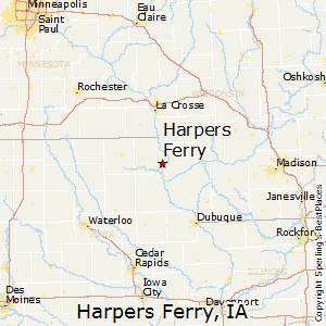 Harpers_Ferry,Iowa Map