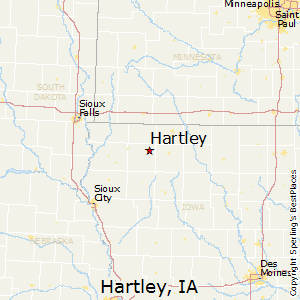 Hartley,Iowa Map