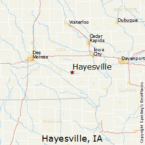 Hayesville,Iowa Map