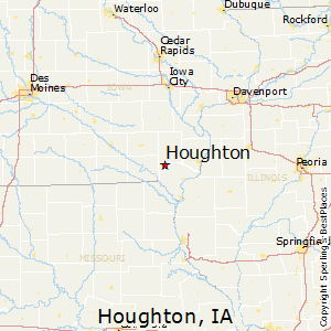 Houghton,Iowa Map