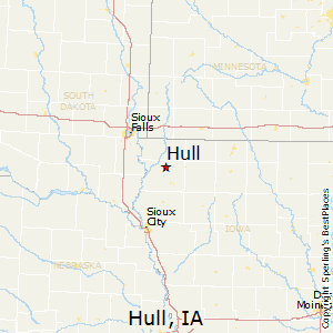 Hull,Iowa Map